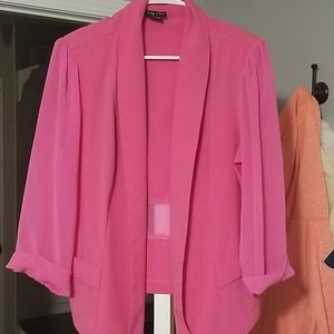 Ladies pink silk jacket